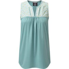 Sherpa Maya Embroidery Sleeveless Shirt Women green